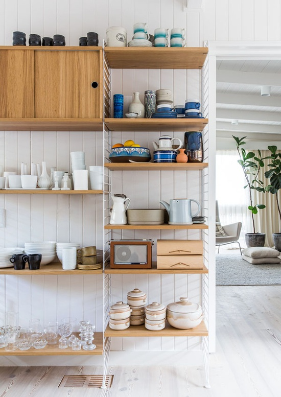 Do you have a kitchen collection you could curate in an open pantry