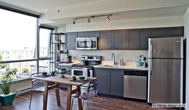 I Shaped Condo Kitchen By Mango Design Co