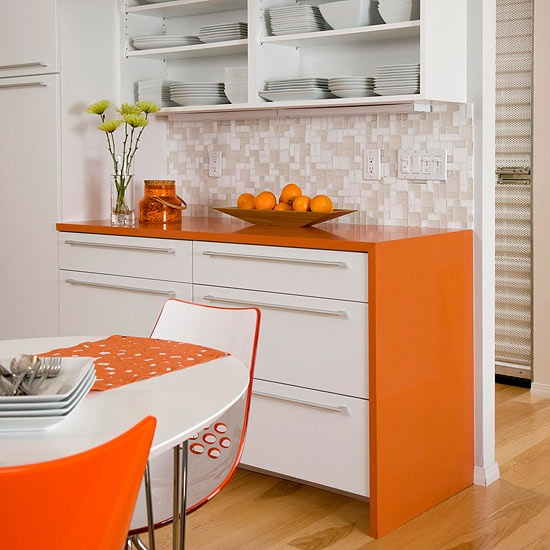 Orange Countertops