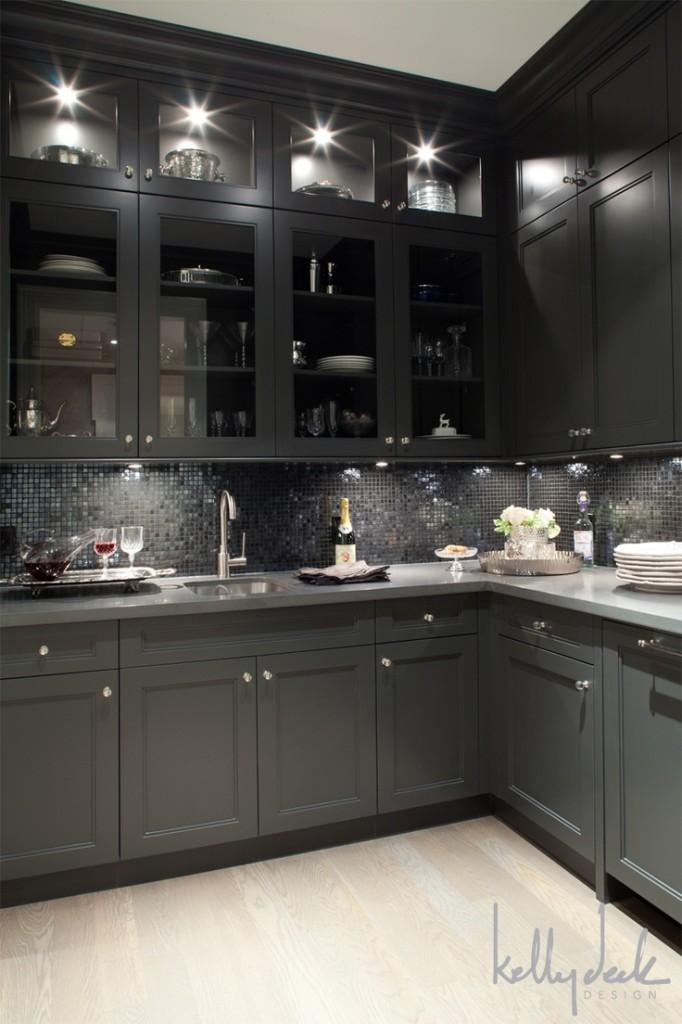 Kelly deck design kitchen with light floors for Dark grey kitchen units