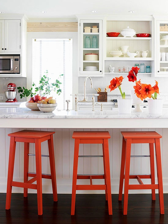 Valentine\'s Red Kitchen Accents - Ikan Installations