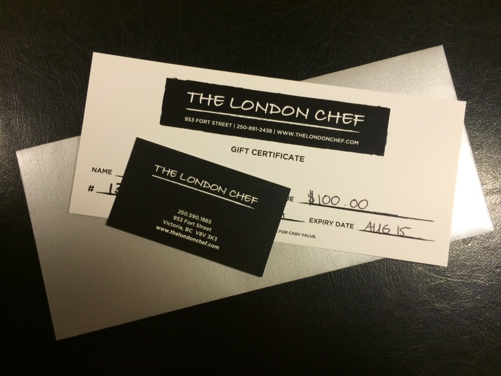 London Chef giveaway
