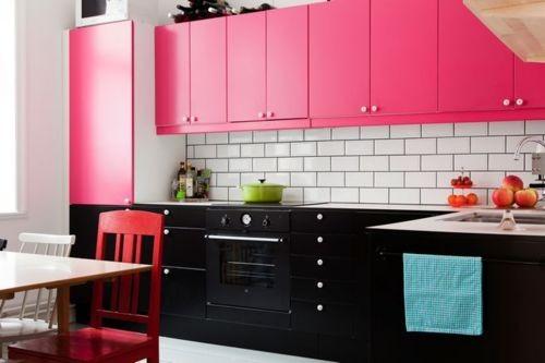 black-pink-kitchen