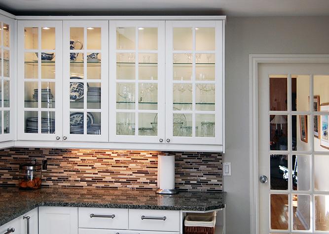 Cuisine Blanche Grise Et Aubergine : Kitchen Cabinets Without Doors » Home Design 2017